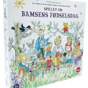 Spillet om Bamses Fødselsdag. Et brettspill for barn fra Damm.