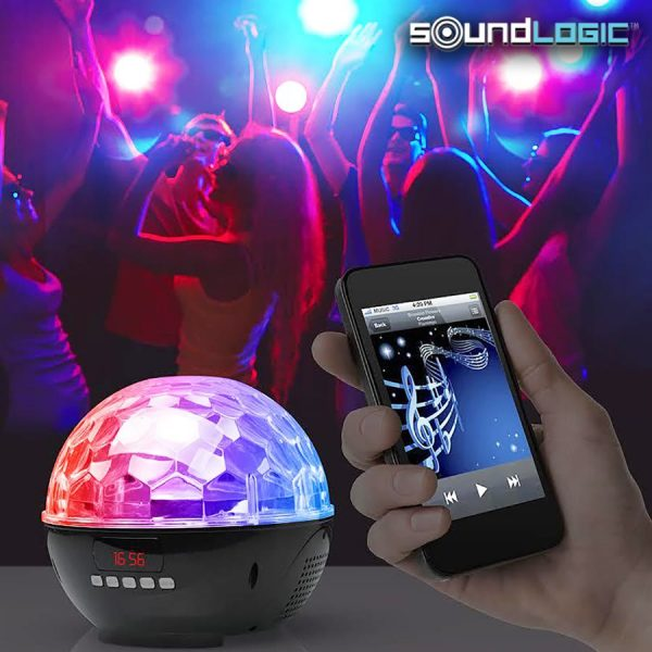 Discolys høyttaler, oppladbar med bluetooth og FM radio
