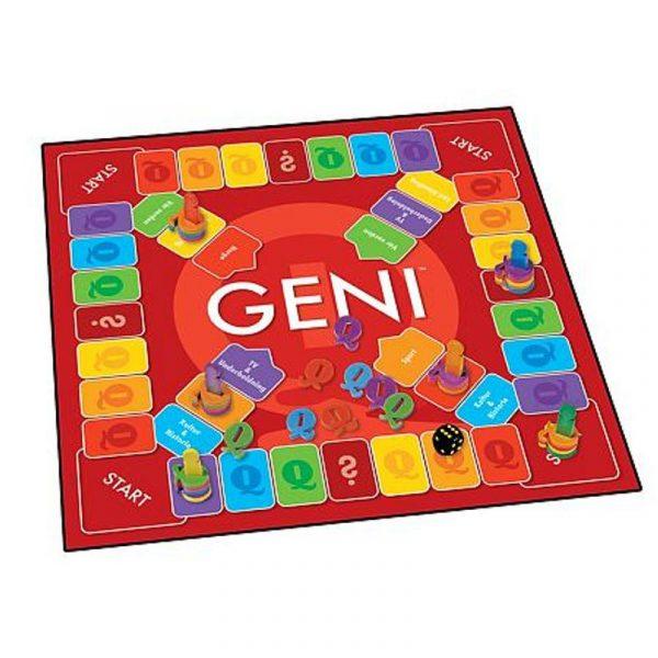 Spørrespillet Geni. Brettspill, spill, kunnskap.