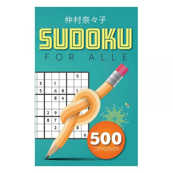 Sudoku for alle. Hjernetrim, soduku, bok med 500 oppgaver.