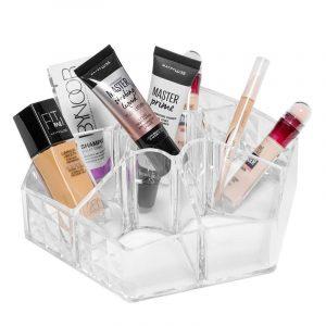 Organizer for sminke - 6 rom. Oppbevaring sminke. Makeup.