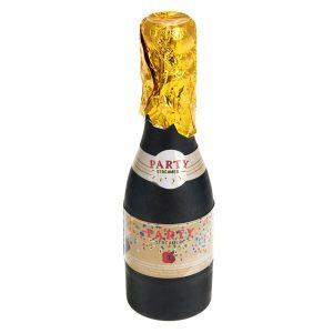 Konfettikanon, flaske popper. Konfetti champagneflaske, fest, party streamer.