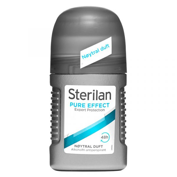 Sterilan Pure effect roll on. Nøytral duft, Expert protection. 50ml.
