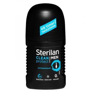 Sterilan Clean protect roll on Men. Diskré duft, 48 timer beskyttelse. 50ml. Antiperspirant.