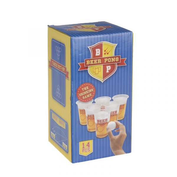 Beer pong, spill. Drikkespill.