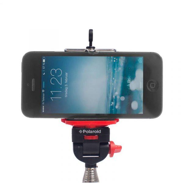 Selfiestang fra Polaroid. Med fjernkontroll. 19,5 cm til 95 cm.