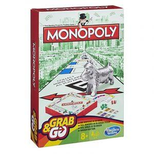 Monopoly Grab & Go reisespill. Monopol brettspill til reisen.
