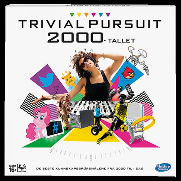 Trivial Pursuit 2000-tallet. Spørrespill for hele familien. Kunnskaps spill. Brettspill.
