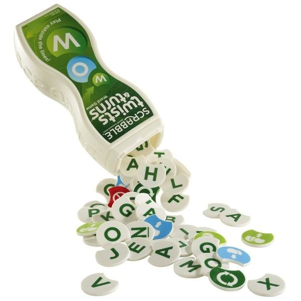 Scrabble twist & turns. Knytter bokstaver og mennesker sammen.