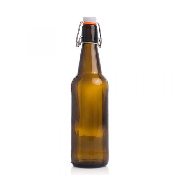 Ølflasker med patentkork. 12 stk. flasker til øl brygging.