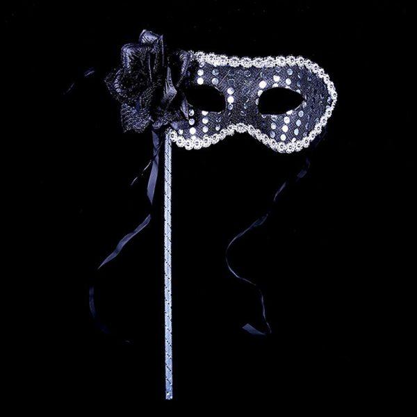 Maskerademasker på pinne, 3 stk. Til ballet, karneval, festen, maskerade maske Maskerademaske
