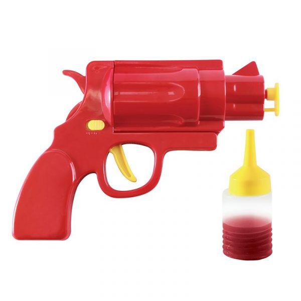 Ketchup pistol, morsom gadget, lad med ketchup og sennep og fyr løs.