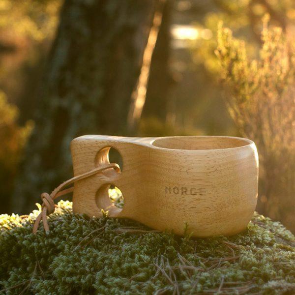 Turkopp Norge. Trekopp som speiderkopp, kaffekopp, skogsturen.