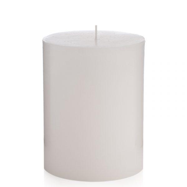 Kubbelys hvit med 62 timers brennetid. 10 x 15 cm. Laget av naturlig parafinvoks