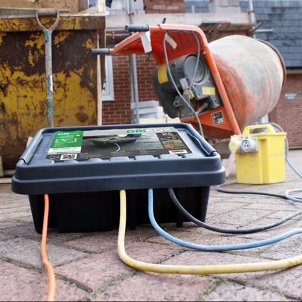 Vanntett oppbevaringsboks for strøm utendørs
