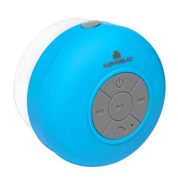 Bluetooth høyttaler for dusj, til stranden o.l. Fungerer også som handsfree for mobil.