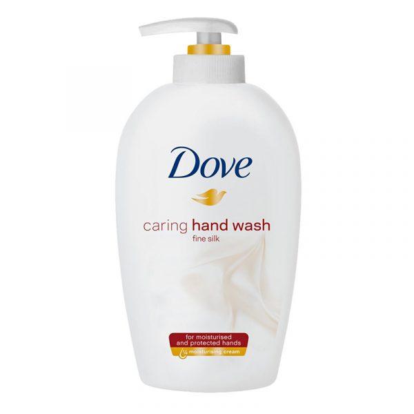 Dove håndsåpe fine silk, 250 ml. Flytende såpe.