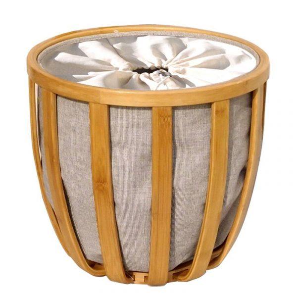 Bambus skittentøyskurv. Korg for skittentøy.