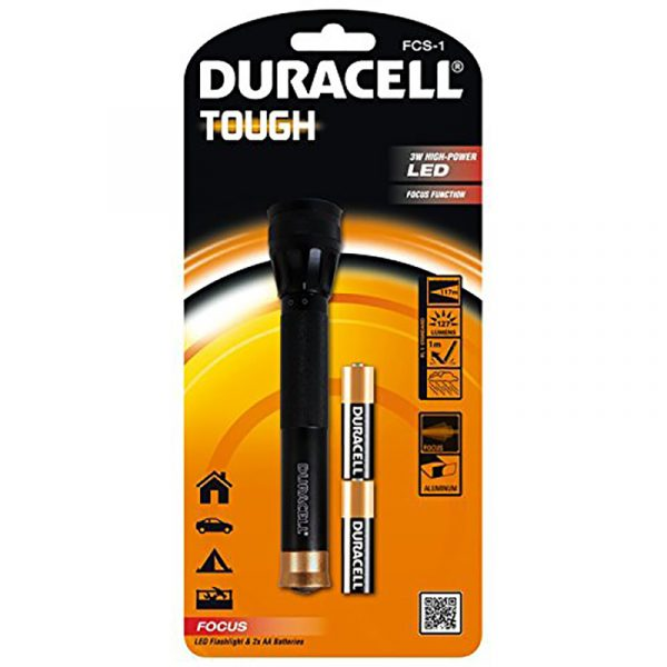 Lommelykt Duracell Tough 3W LED FCS-1