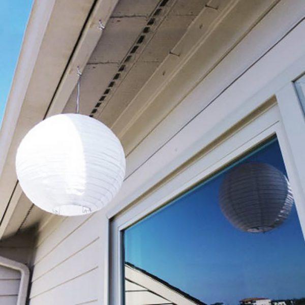 Solarlanterne i canvas med LED-lys. Solar lanterne.