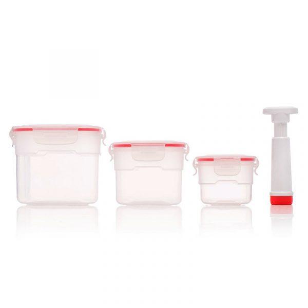 Vakuumbokser til oppbevaring av mat, 3 stk
