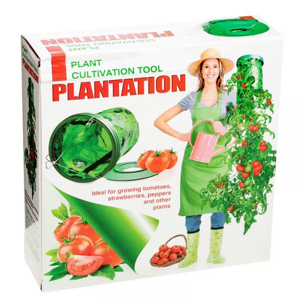 Plantedyrker med oppheng, Hengende dyrkingspose. tomater, jordbær, hengeplanter.