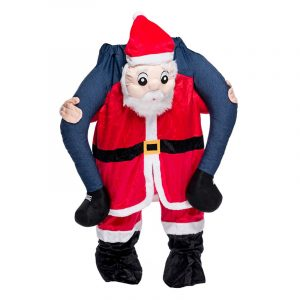 Kostyme Piggyback Nisse. Julenisse kostyme for voksne. Carry me.