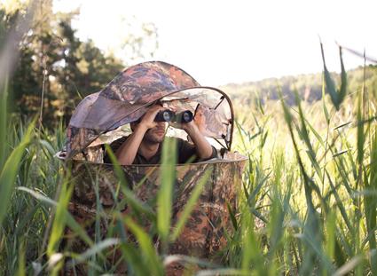 Kamuflasjetelt. Telt med kamuflasje til jakten eller foto i naturen.
