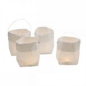 Poselys med LED, Candle paper bag. Pynteposer med LED-lys.