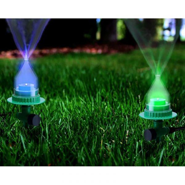 Vannspreder med LED-lys.