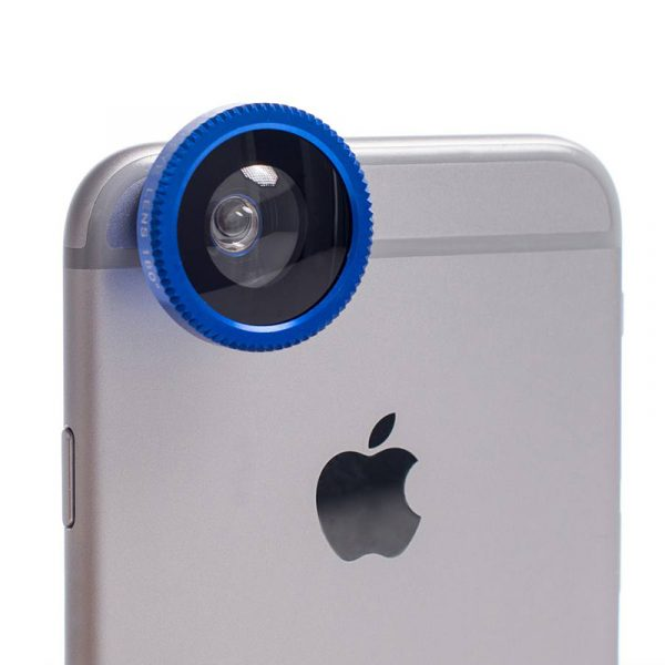 Objektiv til mobiltelefon. 3 i en.