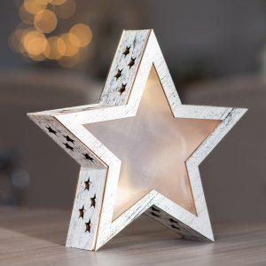 Stjerne med 3 LED lys Julestjerne