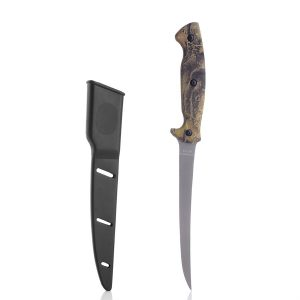Fiskekniv. Kniv med slire.