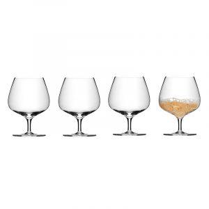 Cognacglass i krystall, 4 stk. 0,40L. Glass til Cognac / Brandy.