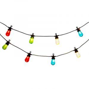 Partylys - lenke med 10 LED-fargelys.