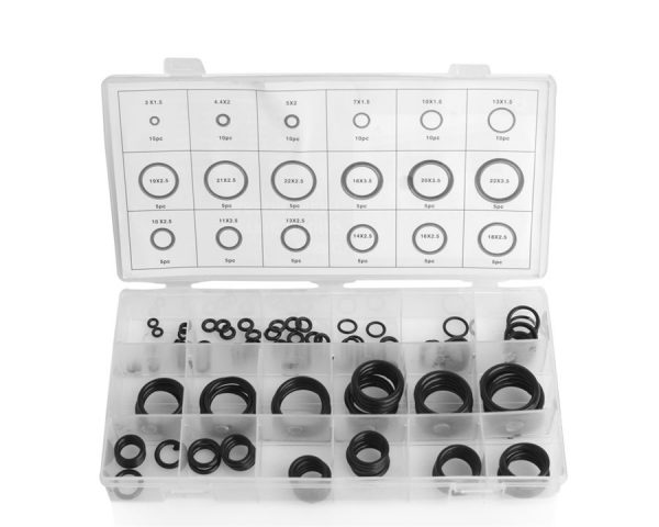 O-ring sett med 125 deler o-ringsett assortement 18 størrelser.