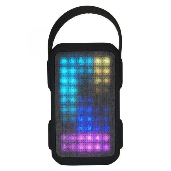 Bluetooth høyttaler med lysshow. Oppladbar med FM radio, batteribank.