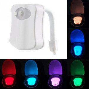 Toalett LED-lys med bevegelsessensor. Gadget.