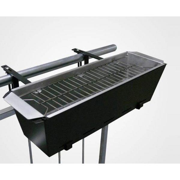 Balkong-grill. Grill til verandaen. Lag BBQ ute på terrassen. Portabel grill til grillmaten.