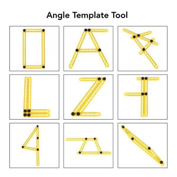 Vinkellinjal for komplekse former og vinkler.