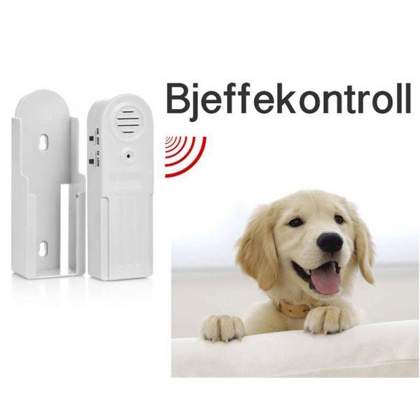 Bjeffekontroll, ultrasonisk. Er du lei av at hunden bjeffer? Apparatet avgir en kraftig, men ufarlig ultralyd.