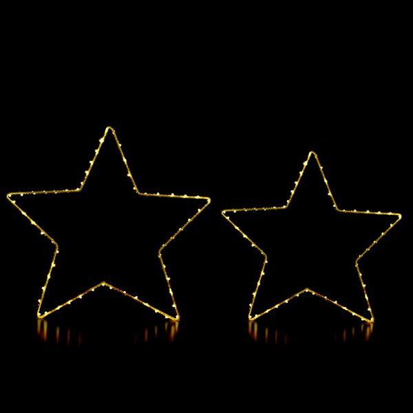 Julestjerner med LED lys. Led stjerne til jul.