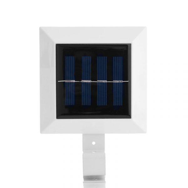 Solar LED lykt til takrenna. Solcelle lys utendørs.
