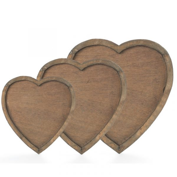 Fat, 3 i sett Heart. Hjerteformet