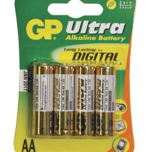 Batteri LR6/AA ultra alkaline fra GP. 1,5V